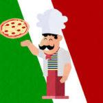 il pizzaiolo acrobatico italiano