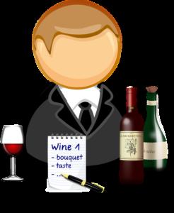 assaggiatore di vino o sommelier